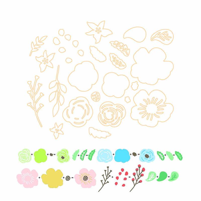 YaMinSanNiO 22pcs 3D Flower Metal Cutting Dies New 2019 Flowers Dies Scrapbooking for Card Making Embossing Craft Die Cut