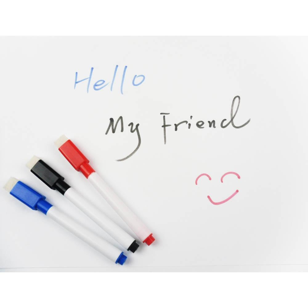 10 Pcs/lot Mini Dry Erase Marker Whiteboard Marker Pen With Mini Brush