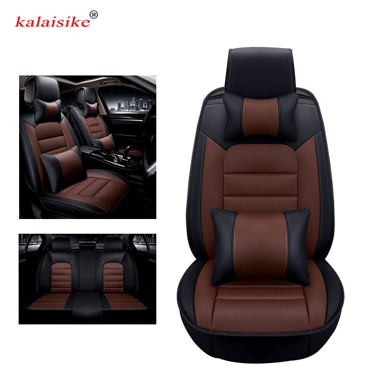 Kalaisike革ユニバーサルカーシートはヒュンダイすべてモデルi30 ix25 solarisエラントラterracanでix35アクセントazera lantraで  グループ上の 自動車 &バイク からの 自動車シートカバー の中 1