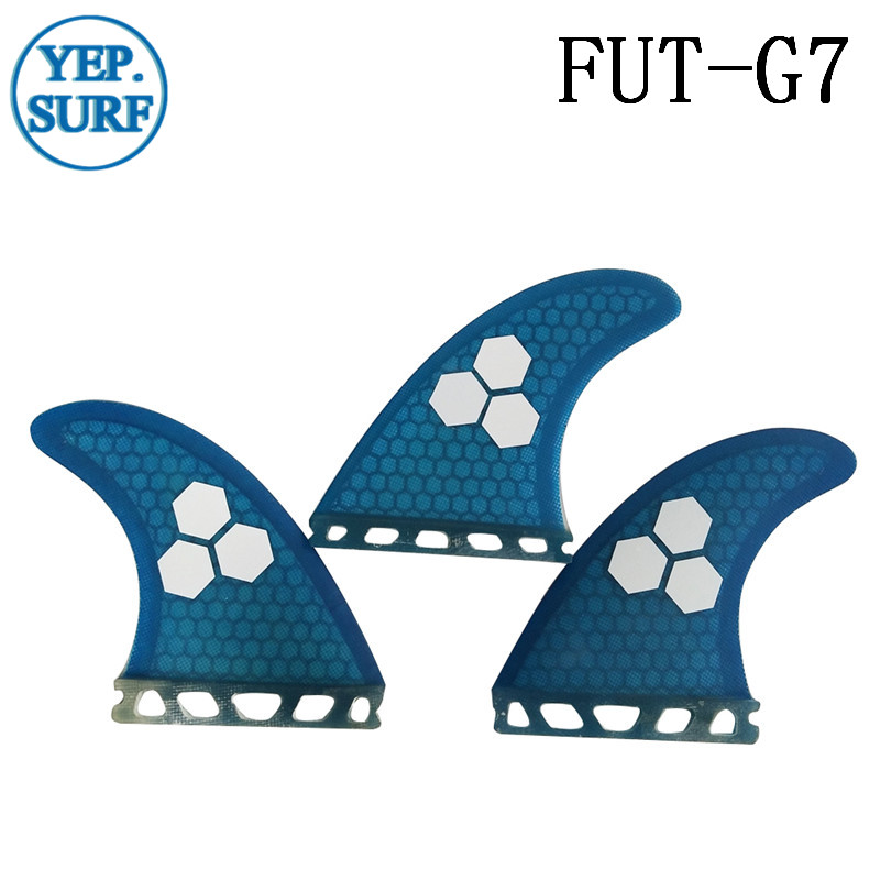 Surf Future G7 Fins Fiberglass Honeycomb Blue/Orange Color Fins Customized Fins Surfboard Future Fins