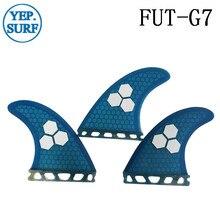 Surf Future G7 Fins Fiberglass Honeycomb Blue/Orange Color Customized Surfboard