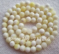 6mm Natural Pearl Shell Round Loose beads 15.5