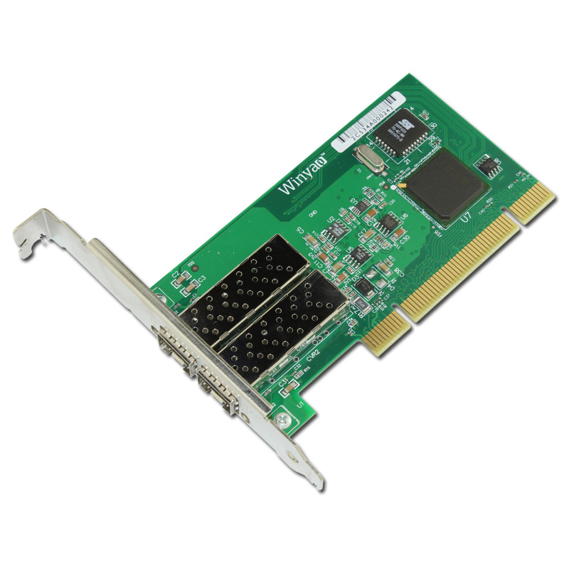 2 Port SFP Gigabit Fiber Ethernet Server Card 1000Mbps Chipset for 82546GB winyao wyi350t4 pci e x4 rj45 qual port server gigabit ethernet 10 100 1000mbps network interface card for i350 t4 4 port nic