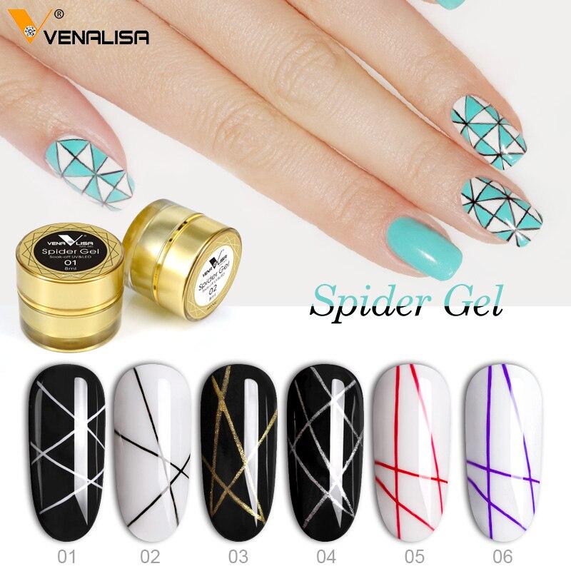 Venalisa краска гель для ногтей УФ светодиодный 8 мл профессиональная краска для ногтей Гель-лак УФ-Цвет Гель-лак выбивает Лаки Pull Line Spider гели