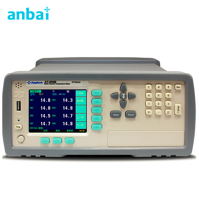 16 Channels High Temperature Data Logger Temperature Chart Recorder AT4516