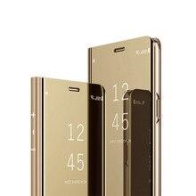 Flip For Xiaomi mi mix 2 Case Hard Luxury Mirror Capa Mi 5X 5C 6 Protection Phone Cases Redmi 4X Note 5A 5 Plus