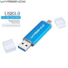 WANSENDA Fast Speed USB 3.0 OTG Pen drive 64GB Metal USB Flash Drive 128GB 32GB 16GB 8GB Double Use Pendrive Flash Drive