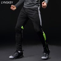LYNSKEY Soccer Training Pants Men With Pocket Football Trousers Jogging Fitness Workout Running Sport Pants plus size 5XL pants