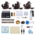 Professional Tattoo Kit 3 Machine Gun Liner 20 Pigments Power Supply System Tattoo Machine Set