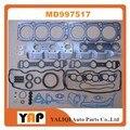 Комплект прокладок для MITSUBISHI TRITON Pickup PAJERO V23W V33 V43 6G72 3.0L V6 12V MD997517 1992-1997