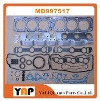 Motor do jogo da gaxeta da revisão para o recolhimento de mitsubishi triton pajero v23w v33 v43 6g72 3.0l v6 12 v md997517 1992 1997|kit engine -