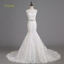 Loverxu Vestido de Noiva O-neck Mermaid Wedding Dress