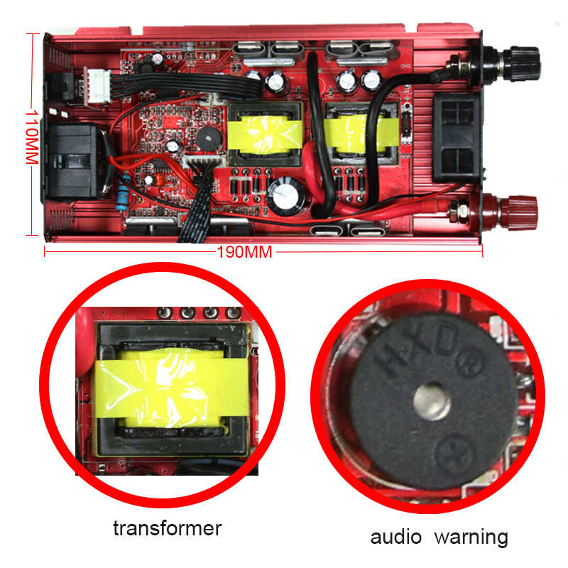 Inversor 12v 220v Transformador de Tensão 2000W Conversor Carro 12 a 220 Inversor Solar Carregador De Energia Auto Inversor adaptador de Vídeo