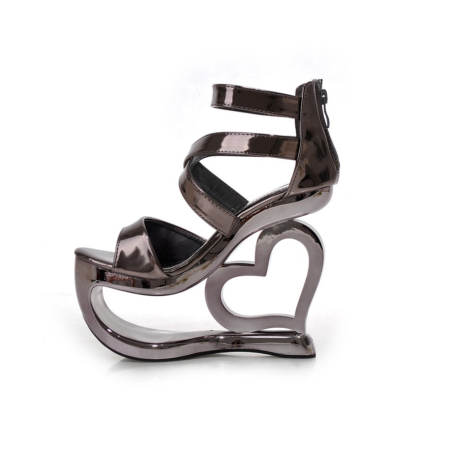 Brand New Novelty Women Sandals Gun Black Silver Ladies Sexy Party Shoes  Super High Heels 15CM AXY88 2 In Womenu0027s Sandals From Shoes On  Aliexpress.com ...