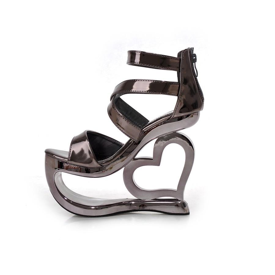 Black party sandals - Brand New Novelty Women Sandals Gun Black Silver Ladies Sexy Party Shoes Super High Heels 15cm