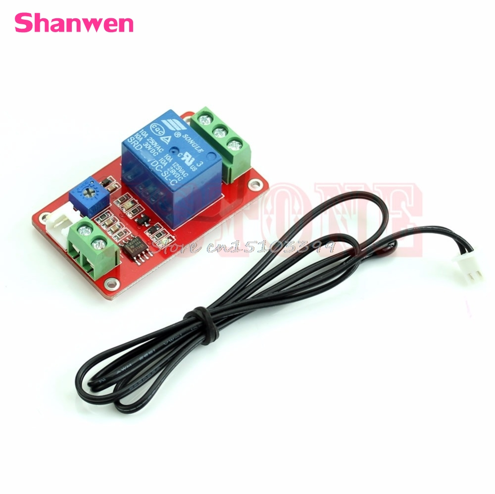 12V DC 1 Detection Control Switch Channel Thermistor Relay Sensor Temperature #G205M# Best Quality dc 24v photoresistor module relay light detection sensor light control switch s018y high quality