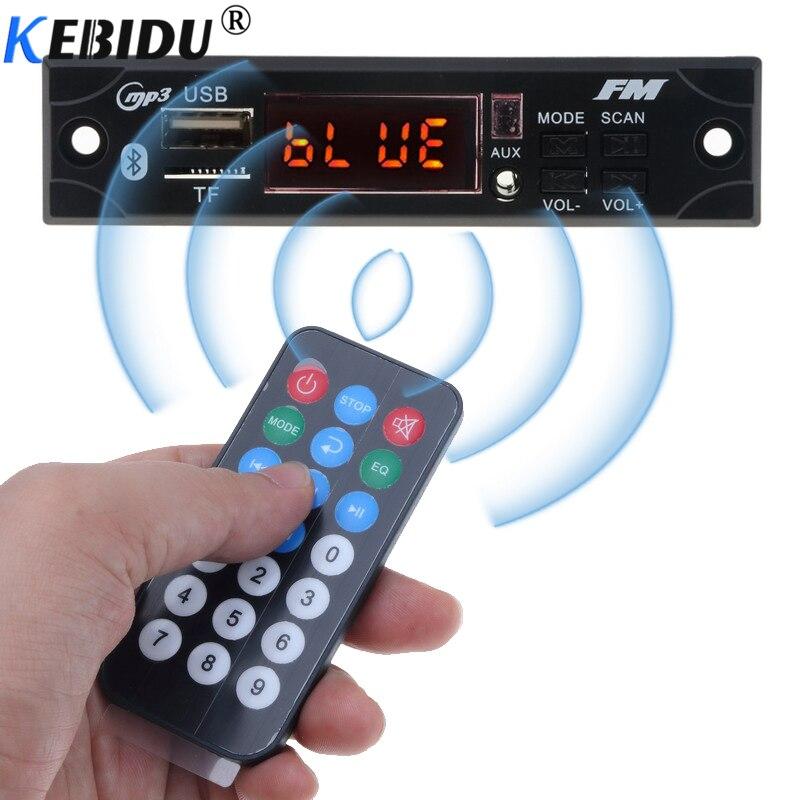Kebidu Drahtlose Bluetooth Auto Mp3 Player Decoder Board Modul Mp3 Wma Wav Aux Audio 3,5mm 12 V Usb Tf Fm Für Auto Modischer Stil; In