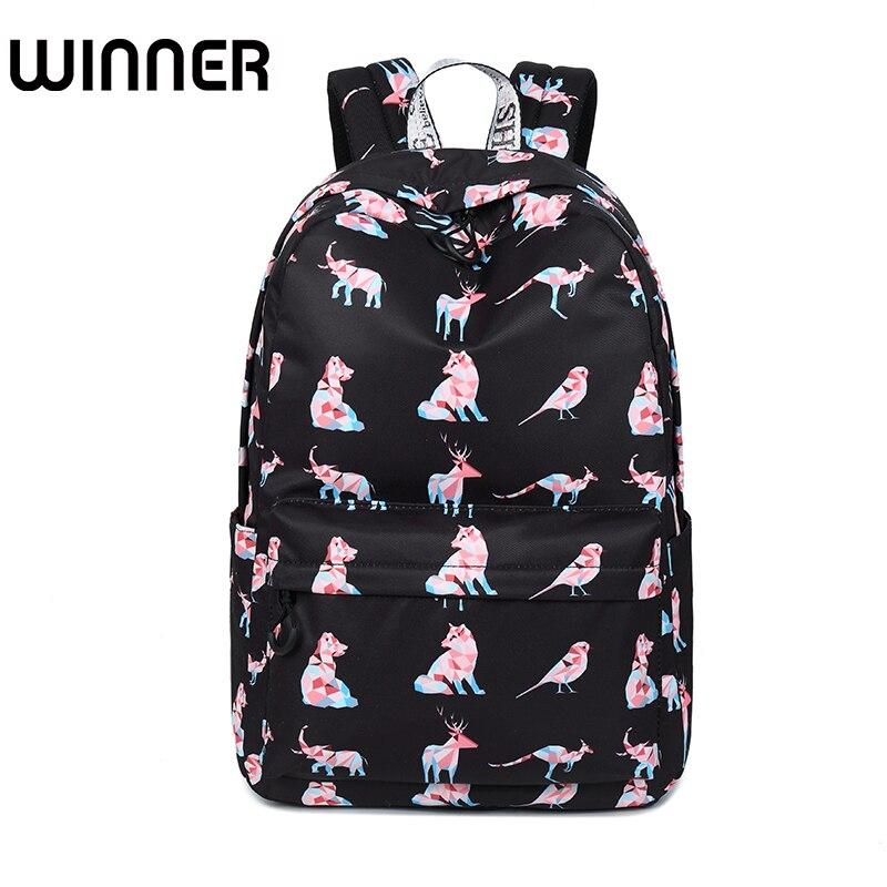 Высокое качество Водонепроницаемый Для женщин рюкзак милая собака животных шаблон печати Обувь для девочек Повседневный Рюкзак для ноутбу…