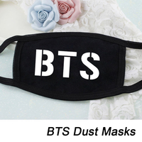 KPOP Fan BTS Bangtan Boys Letter 2016 New K-POP Dust Cotton Mouth-muffle Face Mask Dammskydd Maschere Antipolvere Masques