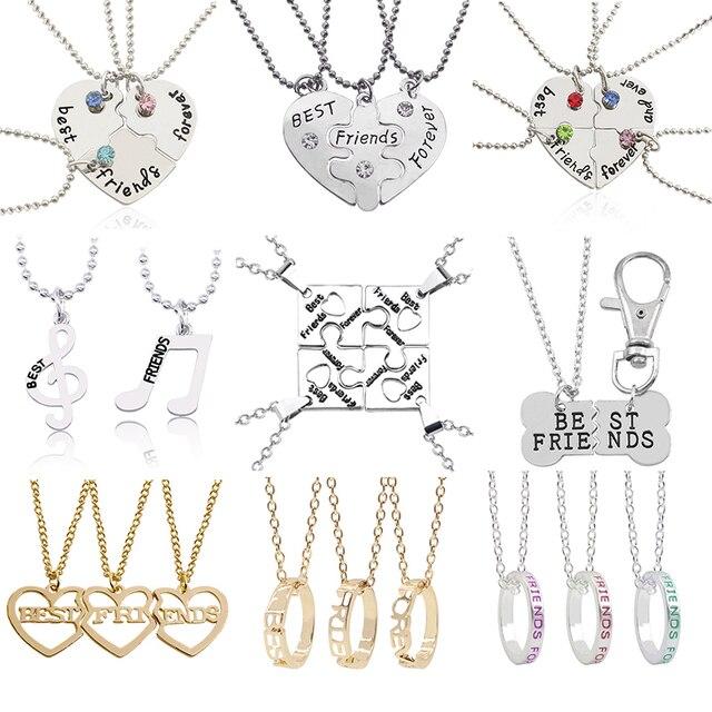 Модные лучшие друзья ожерелье разбитое сердце кулон ожерелье s музыкальная нота BFF ожерелье Головоломка Сердце чокер дружба рождественские подарки