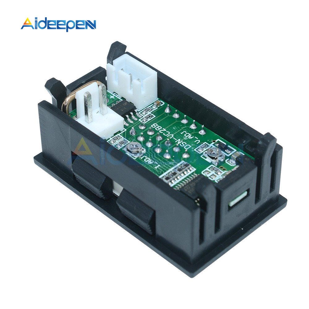 """Mini Digital Voltmeter Ammeter DC 100V 10A Voltmeter Current Meter Tester 0.28"""" 0.28 inch Blue+Red LED Amp Dual LED Display 13"""