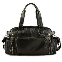 Vintage travel bag Men handbag organizer luggage duffle bag valise de voyage weekend Shoulder bags Male leather bolsa viagem sac