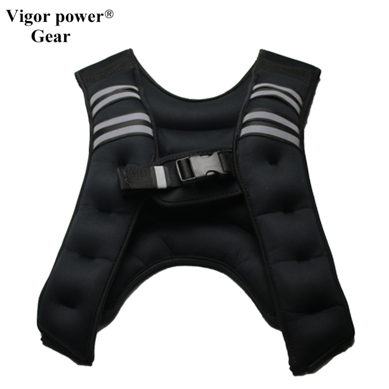 Vigor Power Gear 5 kg Weighted Vest running fitness sports equipment fitness strength trainning vest weight lifting muscle train set of 4 natural latex 41 strength resistance bands loop fitness crossfit power lifting pull up strengthen muscles
