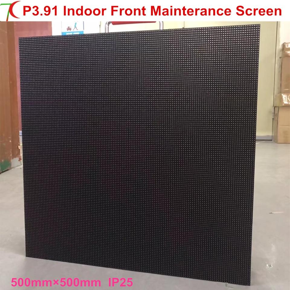 Front Mainterance P3.91 Indoor 500*500mm Aluminum Cabinet Screen  Rental Display