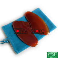 Good quality! WholesaleTraditional Acupuncture Massage Tool Guasha Board Natural Agate Stone triangle shape traditional acupuncture massage spa tool guasha board natural green agate stone fat u shape