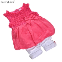 2016 New Summer Baby Clothes Girls Clothing Set Toddler Girl Clothes Sets Sleeveless Baby Suit Infant