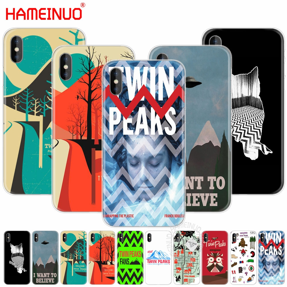 HAMEINUO welocme to the twin peaks cell phone Cover case for iphone X 8 7 6 4 4s 5 5s SE 5c 6s plus