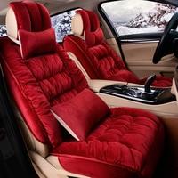 3D Winter Thermal Non Slip Cushion Seat Cover For Kia Sorento Sportage Optima K5 Forte Rio/K2 Cerato K3 Carens Soul Cadenza