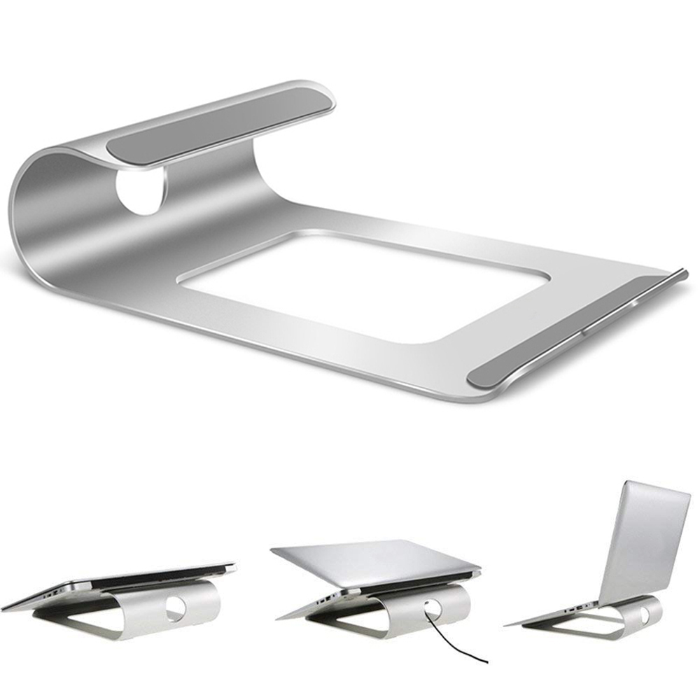Aluminum Laptop Stand Desk Notebook Holder Bracket Cooling Pad For MacBook Pro/Air/iPad/iPhone/Notebook/Tablet/PC/Smartphone