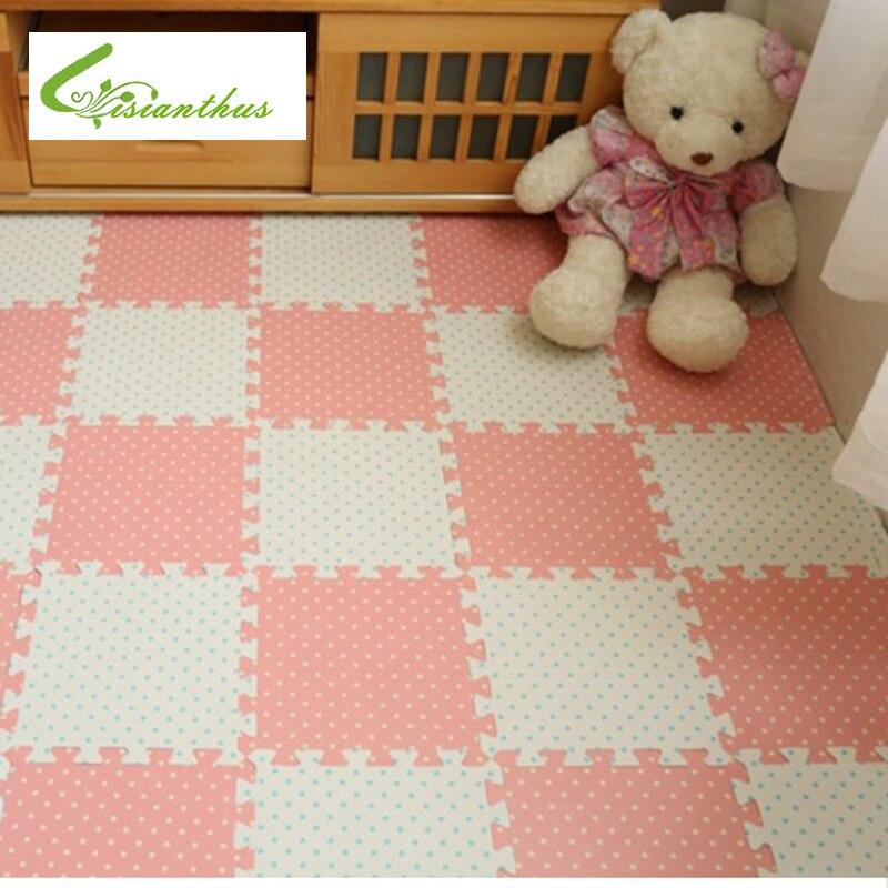 Hot Sale 30*30cm 8pcs Set Puzzle Carpet Baby Play Mat Floor Puzzle Mat EVA Speel mat Foam Carpet Mosaic Floor Baby Play Mat