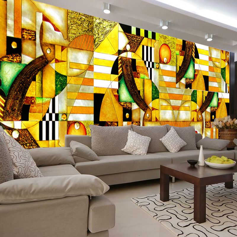 abstract living bedroom painting