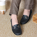 Plus size(35-40) women flats,women genuine leather flat shoes woman loafers 2015 summer style female casual shoes car-styling