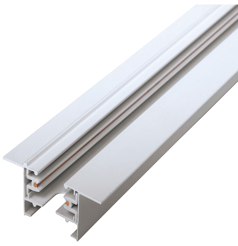 Two Wire Concealed Track Bar Joint Connector 1 METER White