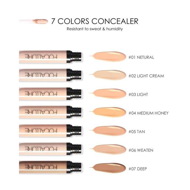 Focallure 7 Colors New Arrivals Cover Primer Concealer Face Eyes Foundation Concealer Waterproof Cream Makeup 2