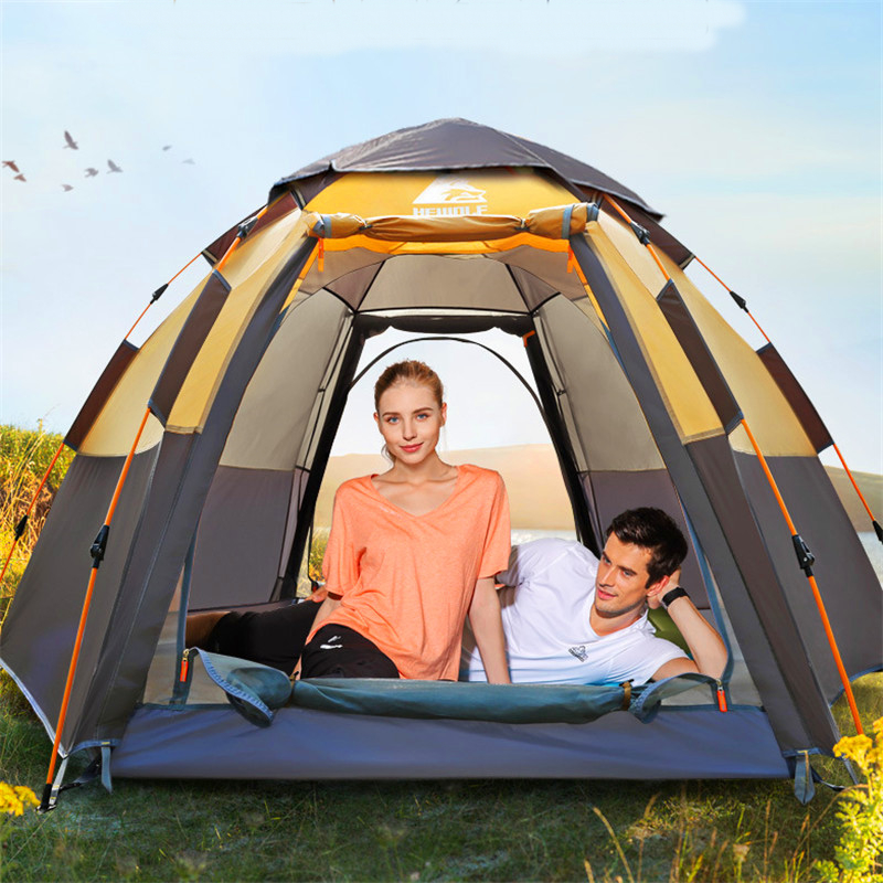 5-8 Person 283*283*168cm Ultralight Large Camping Tent Waterproof Windproof Automatic Tent Camping Travel Hiking Outdoor Tents otomatik çadır