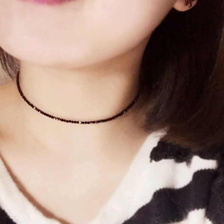 Simples preto contas curto colar feminino 2018 moda jóias gargantilha mulheres colares bijoux femme senhoras festa colar