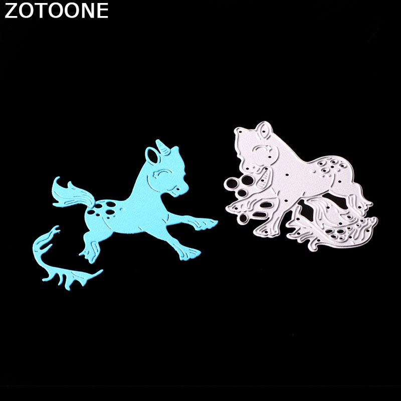 ZOTOONE DIY Horse Animal Metal Cutting Dies for Scrapbooking New Arrival 2018 Craft Stamps and Dies Cut Stencils Card Making E