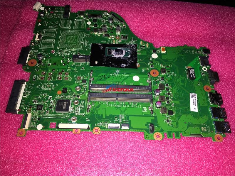 PARA ACER Aspire Laptop Motherboard Com i5-7200U E5-575 2.5 ghz CPU DAZAAMB16E0 DDR4 NBGD311006 NB. GD311.006 100% TESED OK