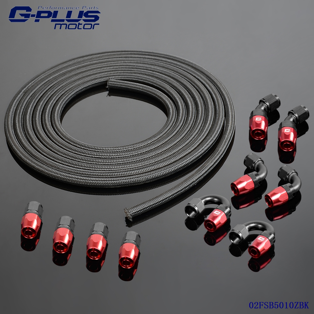 An stainless steel nylon braided oil fuel hose fitting