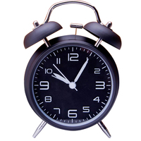 4 Twin Bell Alarm Clock With Stereoscopic Dial Backlight Battery Operated Loud Alarm Clock 460656