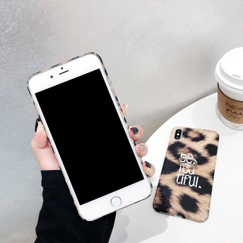 360 טלפון טבעת עבור iPhone XS מקסימום מקרה 3D נמר טבעת גריפ קשיח מחשב חזרה כיסוי עבור iPhone XS XR X 6 6S 7 8 בתוספת מקרה קריקטורה חמוד