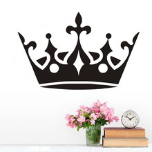 DCTOP Large Crown Diadema Wall Sticker Vinyl Removable Princess Bedroom Decorative Wall Decal Home Decoration Accessories