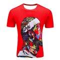 2017 SYJON brand the Joker 3d t shirt Red harajuku/Finger skeleton 3d t-shirt summer style outfit tees top full print dropship
