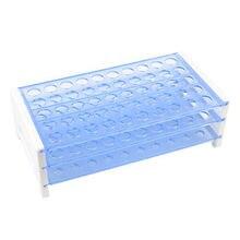 Plastic Detachable 13mm Hole Dia 50 Centrifuge Tubes Rack Storage Case