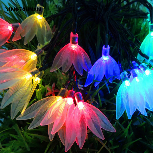 yingtouman solar christmas lights solar clover fairy string lights for xmas party decorations outdoor solar lamp
