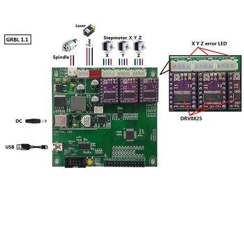 CNC Mini laserowa maszyna grawerująca kontroler pokładzie 3 osi GRBL USB Port grawer laserowy kontroli V3.3 dla CNC3018 CNC2418 CNC1610